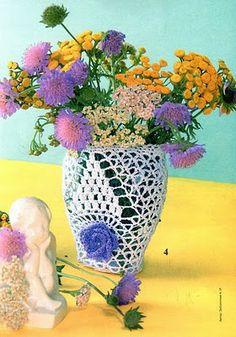Crochet vas  ♥LCB-MRS♥ with diagram.--- Edivana Croche: vaso de flores