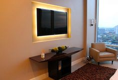 I would like to explain to you what is LED and which are benefits of using LED in the house (Marvelous LED Lights For TV Wall Units You Will Love To Have). Lights Behind Tv, Wall Behind Tv, Feature Wall Design, Tv Wall Design, House Design, Tv Console Decorating, Tv Wanddekor, Decor Around Tv, Tv Led