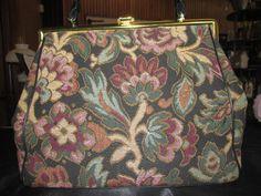 Vintage JR Julius Resnick Tapestry Handbag 1950s
