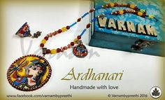 It started with an idea of a tanjore painting and ended with a Madhubani style of Shiva Parvathi. I am not too expertised with the art styles but I would love to try and learn them. Code name: Ardhanari Customized handmade paper based pendant with handpainted ShivaParvathi and matching jhumkas to go with.... #handmadelove #varnambypreethi #ardhanari #chennai #accessories #jewelry #madhubanistyle #jhumkas #quilled #ethnic #traditional