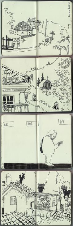 some pages from my Athens sketchbook