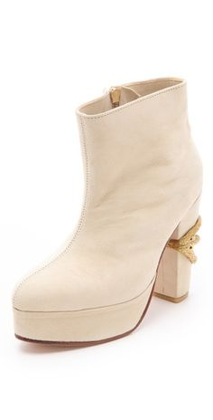 Friend of Mine Claw Suede Booties