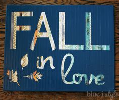 I am really enjoying working on some DIY projects to bring some touches of fall in to our home, and I'm having fun playing with different c...