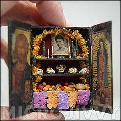 Day of the dead matchbox shrine