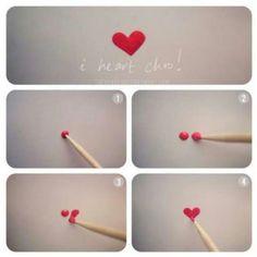 Easy heart, looks so cool :)