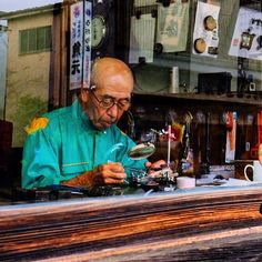 Postcards from Japan  Walking through Miyako I saw this old guy fixing some electrical stuff. Repairing goods is a dying art in a throw away society. - - Copyright: JohnRourke Rights Usage: All rights reserved. - - #travelshooteditrepeat #xphotographer #xphotographers #photographersofinstagram #editorial #lifestyle #travel #traveller #wanderlust #instameet #photooftheday #travelphotography #japan #cityscape #streetstyle #travelblogger #documentary #streetphotography #xseries #fujiusers…