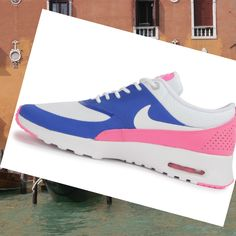 Donna Nike Air Max Thea Running Scarpa Blu Rosa Bianco,Modern trainers can bying to walk all over the world lightly.