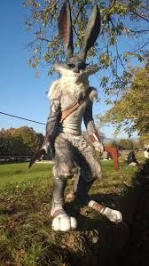 That is an amazing Easter Bunny cosplay from Rise of the Guardians! =0,0=