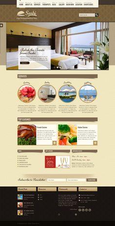 The Restaurant theme for hotel, cafe, recipe, restaurant, bakery, cuisine websites.
