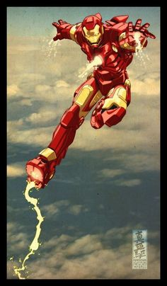 Paintings and Art / Iron Man comics art