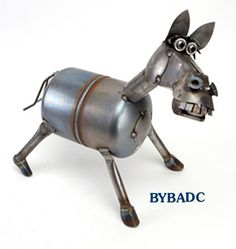 Yardbirds Bucky the Horse Metal Sculpture available at Good Goods in Saugatuck, Michigan.