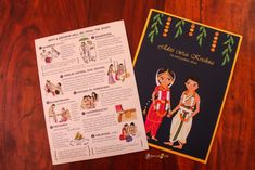 Cute Indian Cartoon Wedding Invitation Card and all its details - Illustrated Wedding Invitations, Indian Wedding Invitation Cards, Wedding Invitation Card Design, Creative Wedding Invitations, Wedding Card Templates, Wedding Cards, Invitation Ideas, Engagement Invitations, Invitation Templates