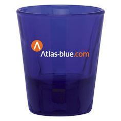 Cobalt Blue Shot Glass  1.5oz Blue Shots, Swag Ideas, Shot Glasses, Cobalt Blue, Vibrant Colors, Contour, Branding, Base, Logo