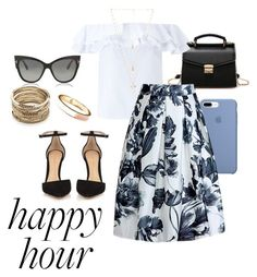 """Happy hour"" by abigalegibson on Polyvore featuring Miss Selfridge, Gianvito Rossi, Tom Ford, Natalie B, Sole Society and Old Navy"