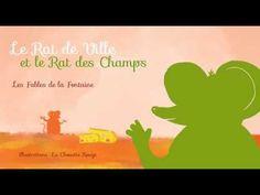 Fable de La Fontaine - Le Rat des ville et le Rat des champs -Livre animé