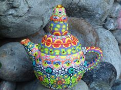 Little Magic Teapot Upcycled Ceramic Transformed by by CrazieHappy, $85.00