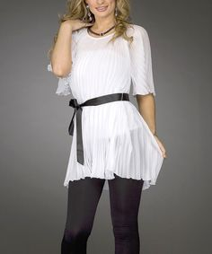 Another great find on #zulily! Jerry T Fashion White Tunic by Jerry T Fashion #zulilyfinds