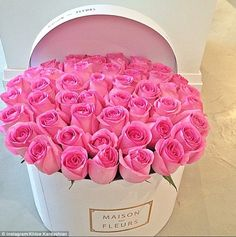 If this shot doesn't make you happy, what will?: Khloe also posted this collection of pink roses from Maison Des Fleurs