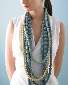 Dyed Wooden Beads Necklace How-To