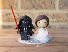 Darth Vader and bride wedding cake topper by Genefy Playground  https://www.facebook.com/genefyplayground