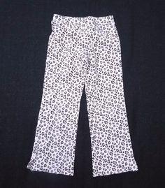 GYMBOREE PRINTED PANTS, Leopard print Pull on, Kitty Glamour, Cotton blend, Sz 7 #Gymboree #PullonPants