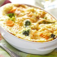 Clafoutis brocoli et carotte
