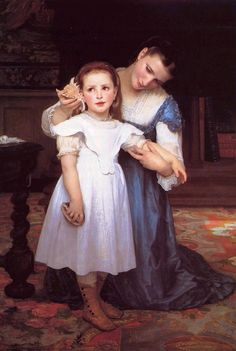 I love this painting. The girl reminds me of Violet, especially her expression listening to the ocean through the shell.