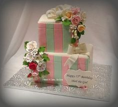 Gifts for Shirl's 75th  Cake by ineedacake
