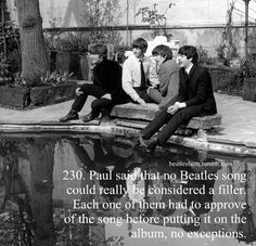 Beatles Facts. And that's why they made such a good team. But How did Ringo's Don't Pass Me By get on The White Album? Aw Poor Ringo >.<
