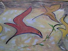 ARTES, DESARTES E DESASTRES CONTEMPORÂNEOS.: Julho-Agosto de 2011 De folhas a pássaros Técnica mista: guache e interf. digitais sobre papel