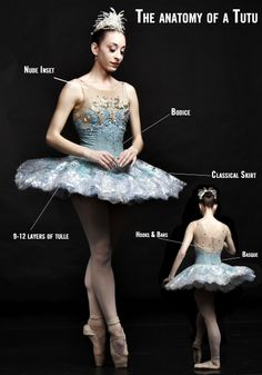 #WorldTutuWeek! A tutu is a skirt worn as a costume in a ballet performance, often with attached bodice. It consists of a Basque (or waistband, as it can either be part of the bodice or a separate band) and the skirt itself might be single layer, hanging down, or multiple layers starched and jutting out.