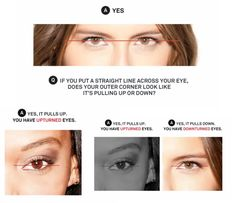 Upturned Eyes Or Down Turned Eyes Eye Shapes Eyes Makeup Hooded Eye Makeup, Hooded Eyes, Makeup Goals, Makeup Tips, Makeup Hacks, Easy Makeup Tutorial, Simple Eye Makeup, Photo Makeup, White Teeth
