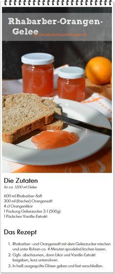 Genuß am Mittwoch  Rhabarber-Orangen-Gelee