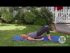 Thighs, Buns, Abs Booty Ball Pilates Workout -Tracey Mallett - YouTube   Home workout only thing needed is a ball.