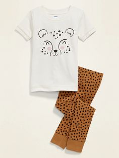Cheetah Graphic Pajama Set for Toddler Girls | Old Navy
