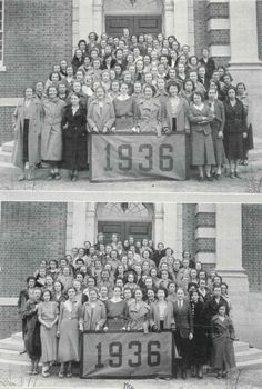 Anne Farr Foot, class of '36. Featured here with her class.