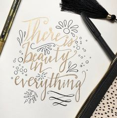 Find the beauty for yourself. #handlettering #lettering #briboiart #gold #handwritten #typography #doodles #calligraphy #bouncelettering #penandink #filigree #typographyart