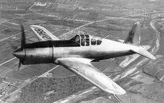 First flight of the Vultee P-66 Vanguard fighter aircraft 8/9 1939.
