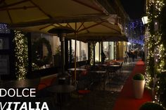 Brescia street at the Christmas, Italy