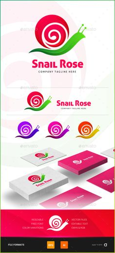 Snail Rose  Logo Design Template Vector #logotype Download it here: http://graphicriver.net/item/snail-rose-logo-template/14469926?s_rank=1130?ref=nexion