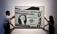"""A one-dollar bill was auctioned for more than 20 million euros. The """"One Dollar Bill (Silver Certificate)"""" - Pop Artist American Art Andy Warhol painting - was auctioned for 29.45 million euros, exceeding the estimated market value of 25.4 million. In the same auction also sold a work of Paula Rego for 1.6 million euros, which was also a record amount"""