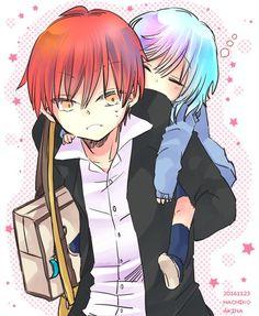 Karmagisa and other ship Pics - Me just shipping (Karma and Nagisa) - Wattpad Anime Meme, Manga Anime, Anime Boys, Karma Y Nagisa, Wattpad, Koro Sensei, Nagisa Shiota, Image Manga, Fujoshi