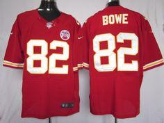 Men's Nike NFL Kansas City Chiefs #82 Dwayne Bowe Red Elite Jerseys