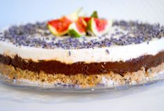 Raw Chocolate Levander Cake with Whipped Coconut Cream decadent but delicious!