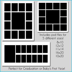 8x10 photo collage template 8x10 scrapbook template baby 39 s photo album ideas pinterest. Black Bedroom Furniture Sets. Home Design Ideas