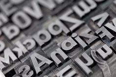 Examples of movable type, which uses separate components for each letter, number and punctuation mark.<br />