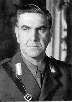 War criminal Ante Pavelić was a Croatian fascist leader and politician who led the Ustaše movement and who during World War II ruled the Independent State of Croatia (NDH), a puppet state of Fascist Italy and Nazi Germany in part of the occupied Kingdom of Yugoslavia. The brutal regime he led was responsible for genocidal persecution of Serbs, Jews and Roma living in the NDH,including mass murdering several hundred thousand Serbs,and tens of thousands of Jews as well as Roma.