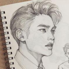 Kyungsoo - J i a · 嘉. I love this art style!!!!!