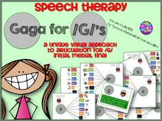 Speech Therapy. Gaga for /g/s. Articulation for /g/ graphic organizer approach. initial, medial, final. 10 pages plus visual cue/verbal cue. #speech therapy #articulation