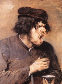 """Adriaen Brouwer (Flemish, 1605 – 1638) """"The Bitter Draught"""" [angry]"""